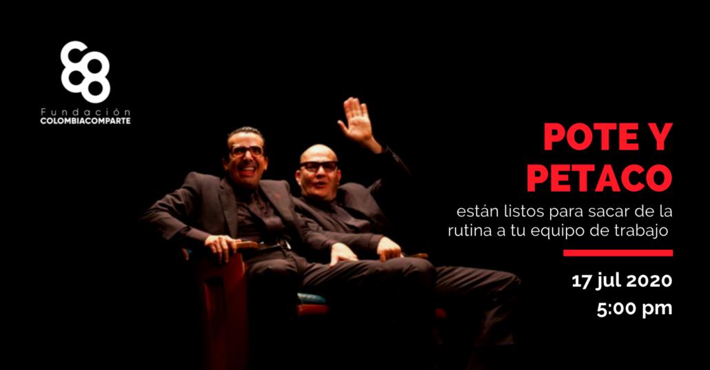 Pote y Petaco en Fundación Colombia Comparte